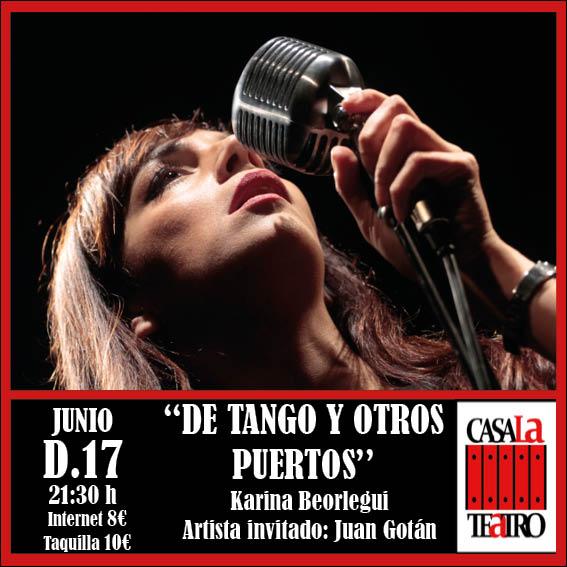 DE TANGO Y OTROS PUERTOS con Karina Beorlegui